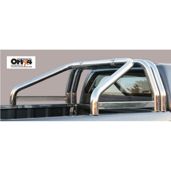 Roll Bar Mark Sponde Inox (versione 3 tubi)Ø 76mm - Mitsubishi L200 TDI Simple-Double cab 1993/2006