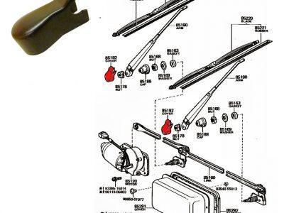 Cappuccio attacco tergicristallo per Toyota Land Cruiser BJ/FJ/HJ 40 OEM-0
