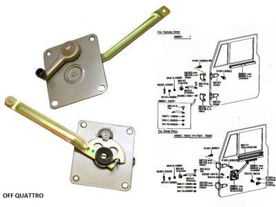 Alzacristalli manuale sinistro Toyota Land Cruiser BJ/FJ/HJ 40-0