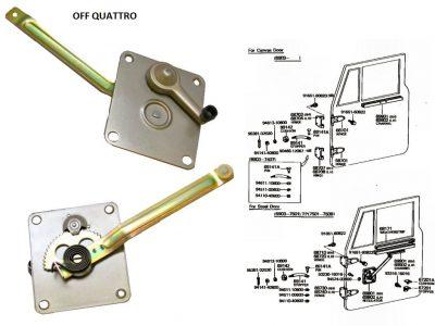 Alzacristalli manuale destro Toyota Land Cruiser BJ/FJ/HJ 40-0