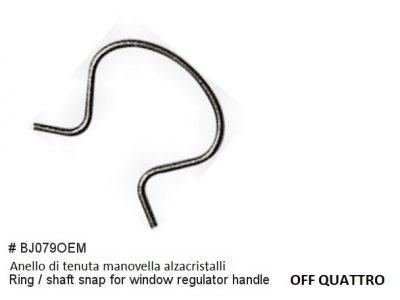 Anello di fissaggio per manovella alzacristalli (OEM originale)-0