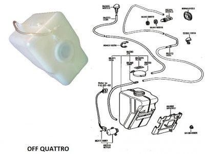 Serbatoio liquido lavacristalli per Toyota Land Cruiser BJ/FJ/HJ 40 OEM-0