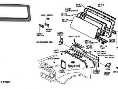 Telaio parabrezza per Toyota Land Cruiser BJ/FJ/HJ 40-0