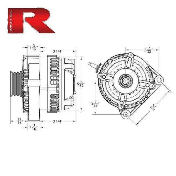 Alternatore 12/24v 110/200 Ampere - Red Winch-148937