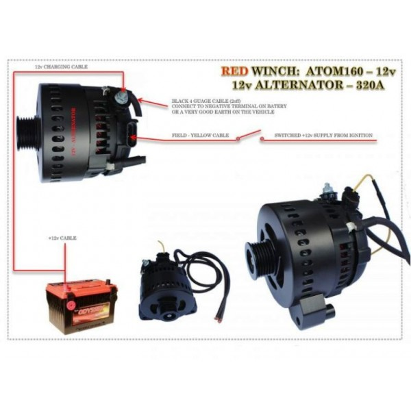 Alternatore 12/24v 110/200 Ampere - Red Winch-148939
