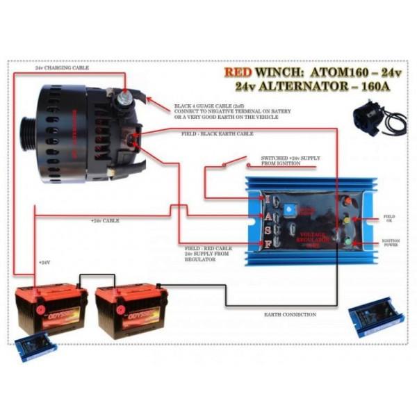 Alternatore 12/24v 110/200 Ampere - Red Winch-148938