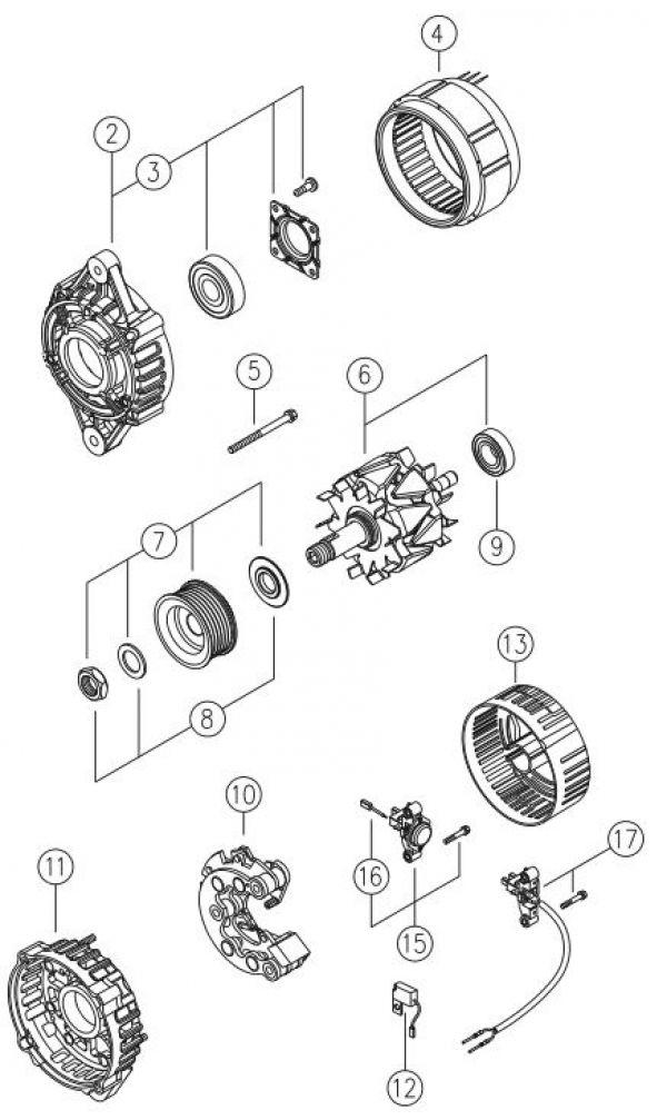 Alternatore 12/24v 110/200 Ampere - Red Winch-148931