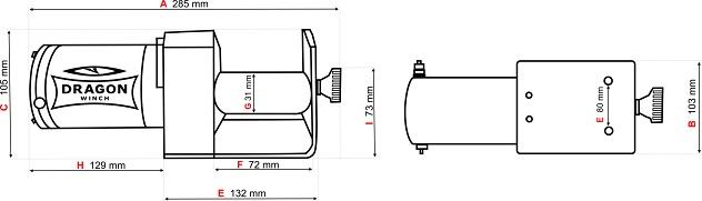 Verricello Dragon Winch DWM 2500 ST YP-153463